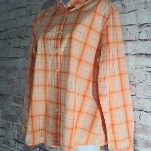 Woolrich plaid button-up shirt